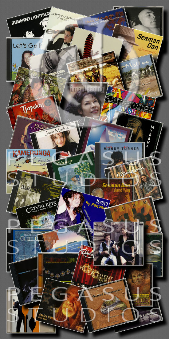 collage of CD albums image