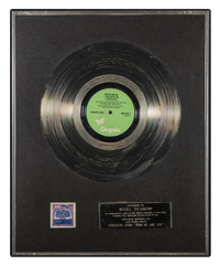 Silver Disk Chrysalis Records award Steeleye Span Now We Are Six image