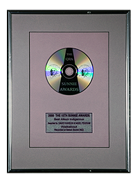 Best Album Indigenous Award, image