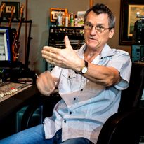 nigel pegrum in studio, image